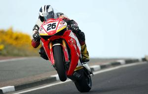 Superbike rider Michael Dunlop pictured at the opening practice night of the 2010 Relentless North West 200