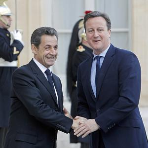 French president Nicolas Sarkozy and Prime Minister David Cameron discussed Europe's financial crisis (AP)
