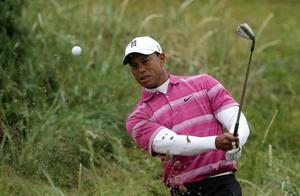 Tiger Woods at The Open. July 2010