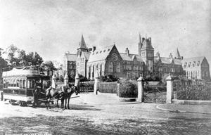 Methodist College Belfast- Methody main building, 1878.