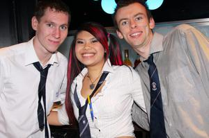 Johnny Brown, Diane Dinh and Kevin McKiernan at the Back to School Party in Scratch Nightclub, Belfast