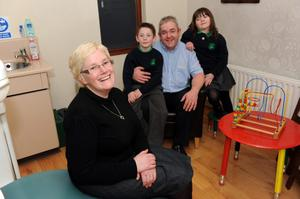 Family ties — Pamela, now in remission from myeloma, with husband Trevor and children Sam and Beth. J