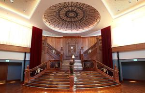 Visual tour of the Titanic Belfast Signature Building which opens to the public on Saturday 31 March. The Titanic Staircase