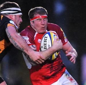 Neil Briggs, right, will be suspended for London Welsh over the next three weeks