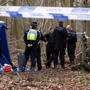 West Midlands police investigating the discovery of a body search the area for evidence