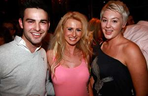 Sean Paul Gilbride, Laura McCauseland and Zara Colhoun are pictured at the final of Pepsi Sexiest Man 2009 in association with Northern Woman. The final took place in Northern Whig, Belfast (10 September).