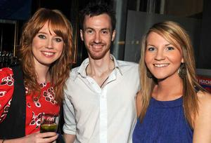 Jenny Smith, Joseph McCartney and Aisling McCrory are pictured at the final of Pepsi Sexiest Man 2009 in association with Northern Woman. The final took place in Northern Whig, Belfast