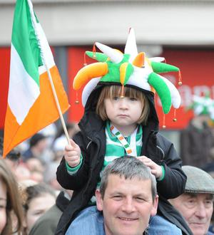 St Patrick's Day parade.  Belfast. March 2010
