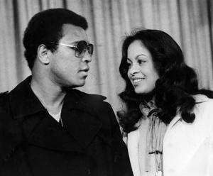 1978: Muhammad Ali and his wife Veronica at Heathrow Airport in 1978.