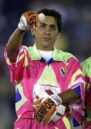<br /><b>Jorge Campos' kit</b><br /> As already stated, actual kits aren't allowed on this list, but Mexico keeper Jorge Campos gets on due to the fact he designed his own strip. He was presumably a fan of the shell suit