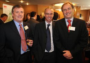 Carl Monteith, Stephen Laughlin and Brian Durham from Calor. Calor village of the Year Award.