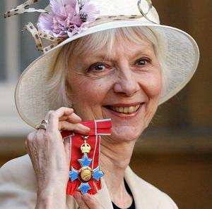 Actress Anna Massey, pictured after receiving her CBE from the Queen, has died aged 73