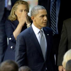President Barack Obama has vowed the United States will 'work with the Libyan government' over the terror attack (AP)