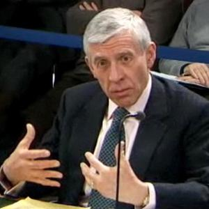 Jack Straw speaks at the Chilcot Inquiry in London