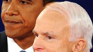 Barack Obama and John McCain face the verdict at the end of their second presidential debate