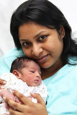 @Press Eye Ltd Northern Ireland -20th June   2012 Mandatory Credit - Brian Little/ Presseye.com  Belfast Telegraph-  Ulster Hospital Jeenat Khan from east Belfast with baby N Alam (name to be decided)