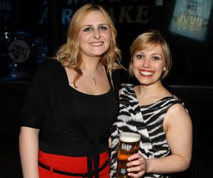 Pictured enjoying the Harp Ice Cold Big Gig on 23rd April are Victoria Bingham and Emma Kerr