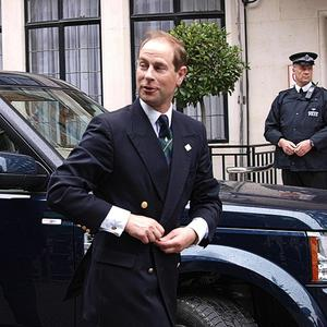 Prince Edward arrives to visit his father Prince Philip who is at the King Edward VII hospital (AP)