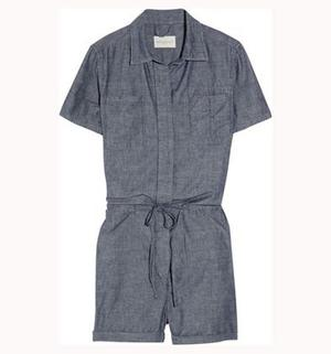 Chambray playsuit £125, Levi's Made & Crafted, www.levismadeandcrafted.com