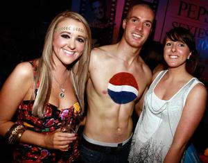 Stephanie Morrow, Portadown, Stephen White and Emma Coburn, Banbridge are pictured at the final of Pepsi Sexiest Man 2009 in association with Northern Woman. The final took place in Northern Whig, Belfast (10 September).