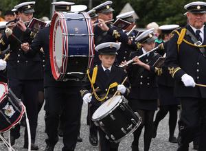 ©Mark Pearce 7th July   2011 Ulster - Northern Ireland  _____ Mandatory Credit - Photo  Mark Pearce/Newry  co Down  District  No: 7 12th  July   Celebrations    Little drummer boy, Commons Silver BandMandatory Credit Photo Mark Pearce/