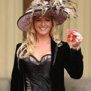 Founder of Ultimo lingerie Michelle Mone with her OBE