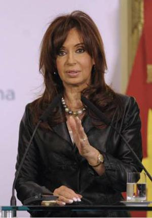 <b>Cristina Fernandez de Kirchner - President of Argentina </b><br/> Justicialist Party member Kirchner took office in October 2007 after winning over 45 per cent of the vote. She gained an impressive 22 per cent lead over her nearest rival in the race, giving her the widest electoral margin since civil rule was reinstated in 1983. She is Argentina's second female president (after Isabel Martinez de Peron, 1974-1976), but is the first woman to have been elected to the post.