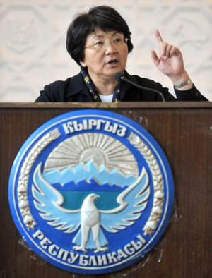 <b>Roza Otunbayeva - Interim President of Kyrgyzstan </b><br/> After the April 2010 'Tulip revolution,' when widespread rioting in Bishtek ousted Kygyzstan's incumbent president Kurmanbek Bakiyev, former foreign minister Roza Otunbayeva was selected to head an interim government. She will hold office until an election (which she is prohibited from running in) is called in 2011.