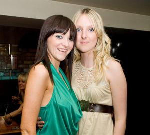 Ciara McCann and Kim Litchfield at the Apartment Bar of the Decade Party