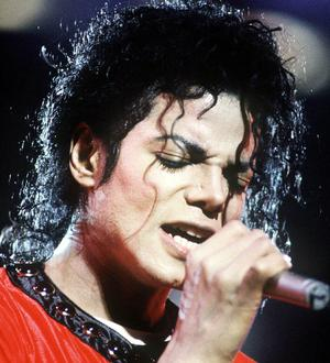 Music star Michael Jackson performs during the Bad Tour in 1987 at Wembley Stadium, in London.