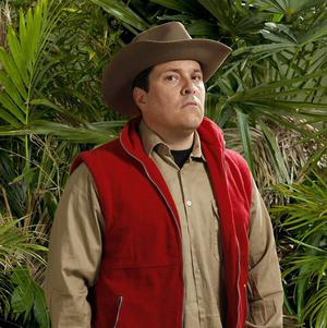Dom Joly is bored of the conversation in the I'm A Celeb jungle camp