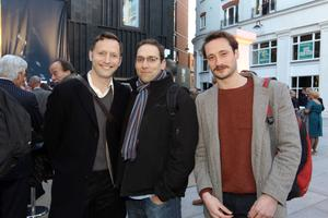 Cast from The Titanic: Rufus Wright, Ben Caplan and Jack Beale at the official opening