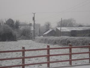 granny's house in the snow, magheranappin co donegal
