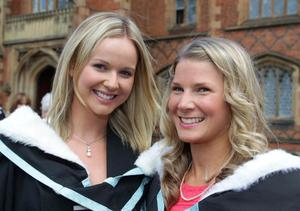 Queen' s University summer Graduation. July 2010. Laura Graham and Laura Wilson graduated with a BA Hons in Early Childhood Studies