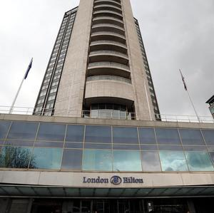 The Hilton hotel on London's Park Lane was evacuated after a fire in a kitchen