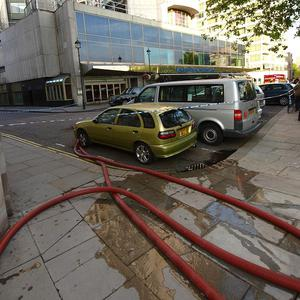 Around 1,500 people were forced to leave the Hilton in Park Lane, London, due to a fire in a kitchen