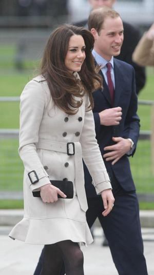 BELFAST, NORTHERN IRELAND - MARCH 08:  Kate Middleton and Prince William visit City Hall on March 8, 2011 in Belfast, Northern Ireland. The Royal Couple are visiting Northern Ireland as part of a tour of the Nation that a couple of weeks ago took them to St Andrews University in Scotland and Anglesey in North Wales to launch a lifeboat. This day-long trip to Ireland has been kept top secret due to security issues. They will marry on the 29th April at Westminster Abbey in a much anticipated ceremony.  (Photo by  Niall Carson - WPA Pool / Getty Images)