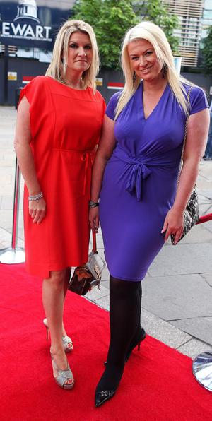 10.06.12. PICTURE BY DAVID FITZGERALDThe opening of the Belfast Film Festival at the Waterfront Hall, Belfast last night. Caroline Fleck and Carey McKee