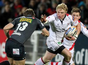 Nevin Spence playing for Ulster last December against the Scarletts