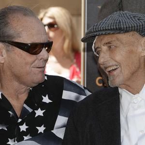 Actor Jack Nicholson, left, with Dennis Hopper who has died aged 74 (AP)