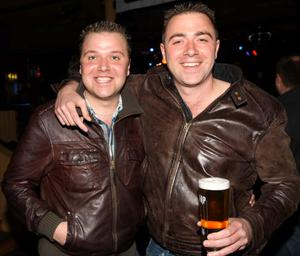 Pictured enjoying the Harp Ice Cold Big Gig on 23rd April are Barry and Steven Hutchinson