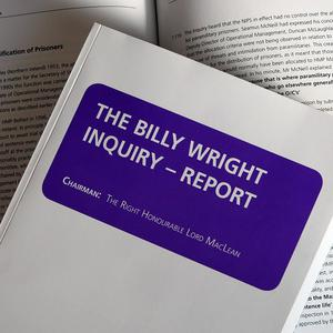 A copy of The Billy Wright Inquiry Report