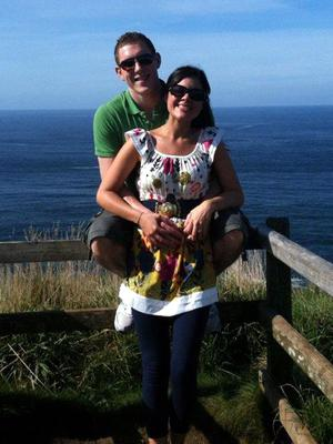 John and Michaela McAreavey, pictured here on a visit to the Giant's Causeway. The couple were on honeymoon in Mauritius when Michaela was murdered.