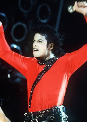 Michael Jackson on stage in 1993.