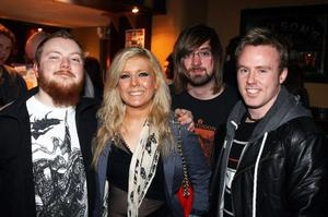 Aaron Vance, Emma Irwin, Aaron Dummigan and Stephen Currie at the Harp Ice Cold Big Gig in the Spring and Airbrake on 26th February