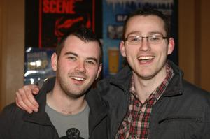 Sean McKenna and Brian Torbitt from Belfast at the Harp Ice Cold Big Gig in the Spring and Airbrake on 26th February