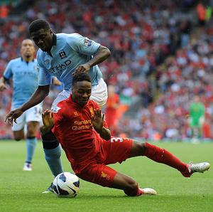 The performance of Raheem Sterling, bottom, earned a rave review from his manager