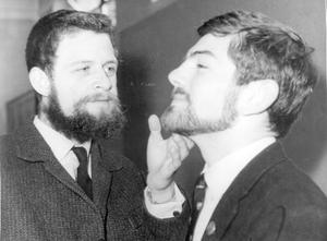 Methodist College Belfast- Testing Bearded Schoolboy, 1964.