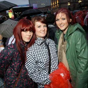 Florence and the Machine performing at Belsonic Festival last night in Custom House Square, Belfast. Girls with red hair - Aoibheann Doody, Laura Wilson and Ceara McGurk
