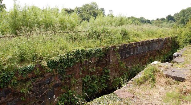 Restoration: One of the disused locks, Becky Hogg's Lock in Lisburn, which could be in use again